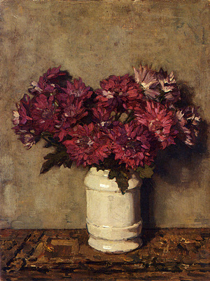 Akkeringa Johannes Evert Chrysanthemums In A Vase