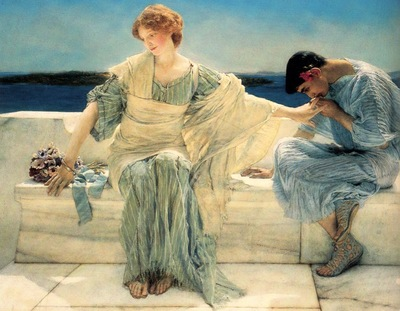 Alma Tadema, Lawrence Ask Me No More detail end