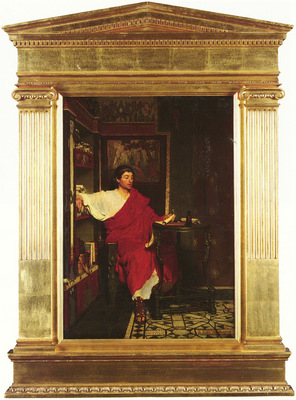 Alma Tadema Sir Lawrence British 1836 1912 A Roman Scribe Writing Dispatches O P 55 9 by 39 4 c