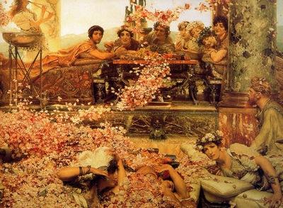Lawrence Alma Tadema Les Roses dElagabal detail , De