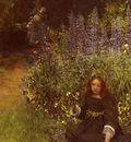 Alma Tadema Lady Laura Teresa Gathering Pansies