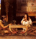 Alma Tadema Sir Laurence Egyptian Chess Players