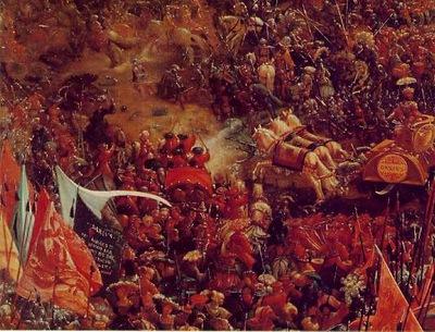 Altdorfer The battle of Issus, 1528 29, Detalj 1, Alte Pinak