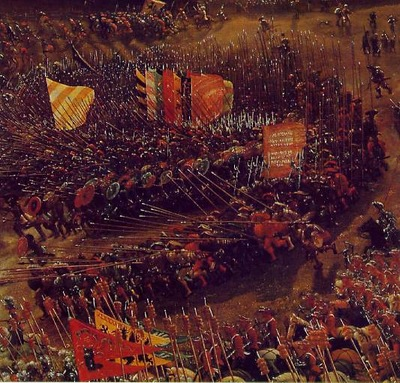 Altdorfer The battle of Issus, 1528 29, Detalj 2, Alte Pinak