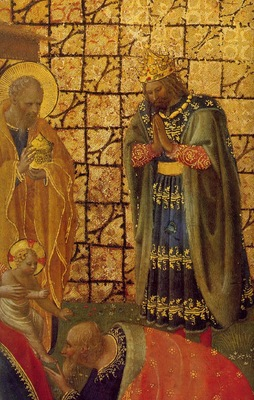 Fra Angelico Adoration and Annunciation ca 1420 Detalj Museo