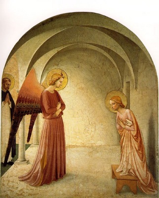 Fra Angelico Annunciation ca 1425 30 Cell 3, Convent of San
