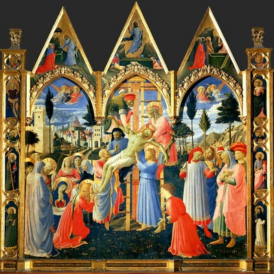 Fra Angelico Descent from the cross, ca 1430 35, 150x164 cm,