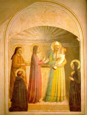 Fra Angelico Presentation in the temple left , 1440 41, Fre