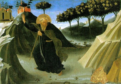Fra Angelico Saint Anthony the abbott tempted by a lump of g