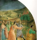Fra Angelico The stoning of Stephen, 1450s, Chapel of Nichol