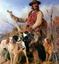 Ansdell Rickard Gamekeeper with dogs Sun