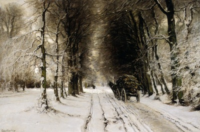 Apol Louis Winter landscape Sun