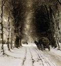 Apol Louis Winter landscape Sun