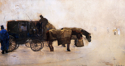 Arntzenius Floris Coaches In The Winter Cold Sun