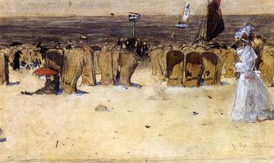 Arntzenius Floris Figures On The Beach Scheveningen