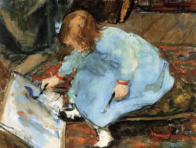 Arntzenius Floris Lies The Artists Daughter Painting Sun