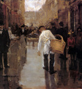 Arntzenius Floris Butchers Boy In Street Den Haag Sun