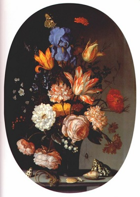 ast bouquet of flowers c1630