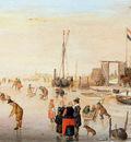 Avercamp Hendrick Merriment on ice Sun