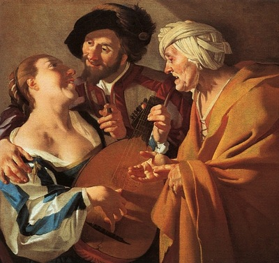 BABUREN THE PROCURESS, 1622, OIL ON CANVAS