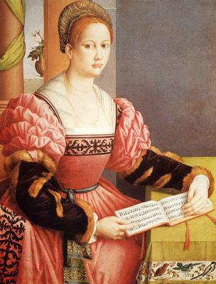 Bacchiacca Francesco Ubertini Portrait Of A Lady