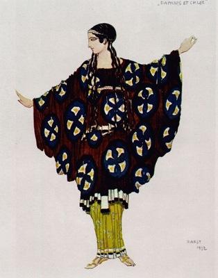 bakst daphnis et chloe costume