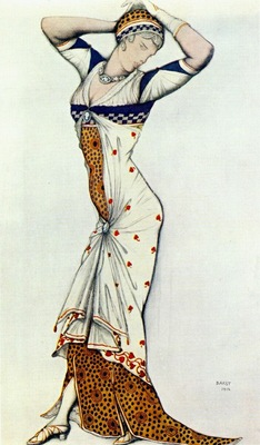 bakst design for a ladys dress