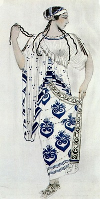 bakst helene de sparte costume for ida rubinstein as helene