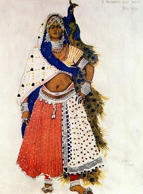 bakst le dieu bleu bayadere with peacock