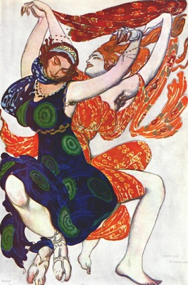 bakst narcisse two boeotian girls