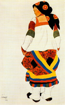 bakst russian peasant woman