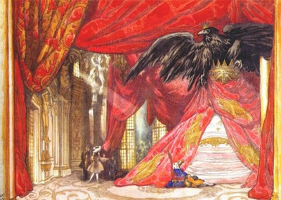 bakst the sleeping beauty design for scene iv the awakening