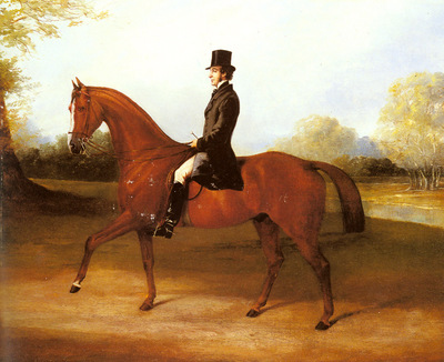 Barraud Henry Richard Paget Of Cropston Leicester On A Bay Hunter