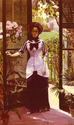 Bartholome Albert Portrait De La Femme D Artiste Entrant Dans La Serre
