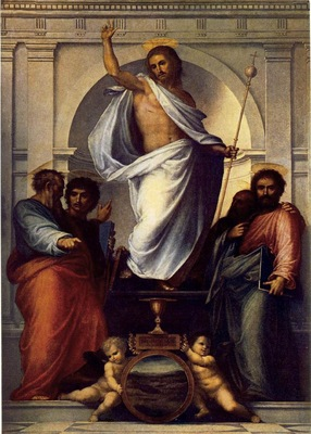 BARTOLOMEO Fra Christ With The Four Evangelists