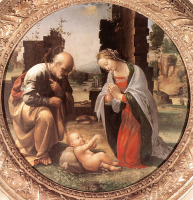 Bartolomeo Fra The Adoration of the Christ Child