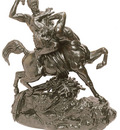 Barye Antoine Louise Thesee combatant le centaure Bienor 2e reduction