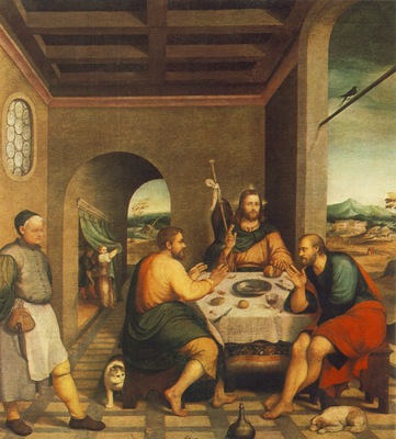 Bassano,J  Supper at Emmaus, ca 1538, 235x250 cm, Chiesa, Ci