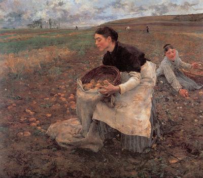Bastien Lepage Saison d Octobre Recolte des pommes de terre