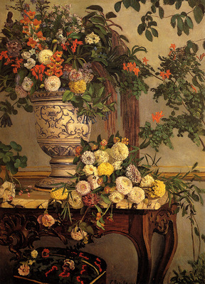 Bazille Frederic Flowers
