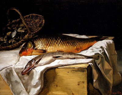 Bazille Frederic Still Life With Fish
