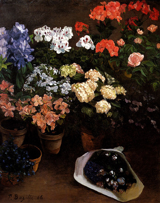 Bazille Frederic Study Of Flowers