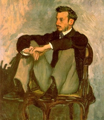 BAZILLE PORTRAIT OF RENOIR, 1867, OIL ON CANVAS