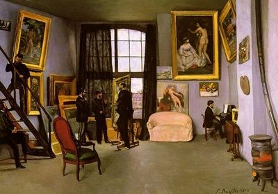 bazille the artists studio rue de la condamine,
