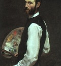BAZILLE SELF PORTRAIT, 1865 66, OIL ON CANVAS