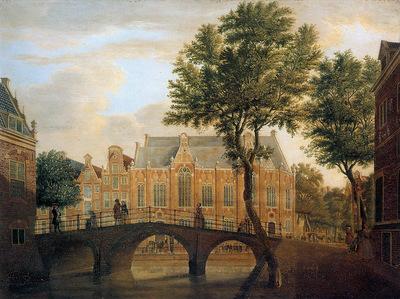 Beijer de Jan Spui with Lutherian church Sun
