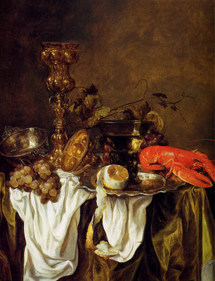 Beijeren van Abraham Still life with lobster Sun