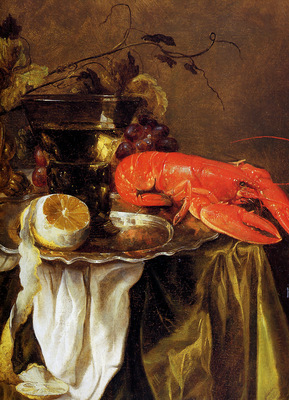 Beijeren van Abraham Still with lobster Sun