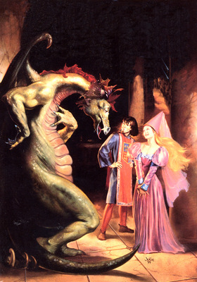 bs fsf Julie Bell The Dragon And The Fair Maid Of Kent
