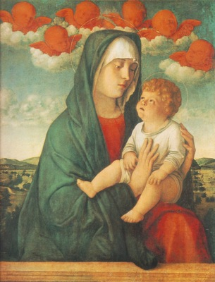 BELLINI,G  MADONNA OF RED ANGELS, GALLERIE DELLACADEMIA VEN